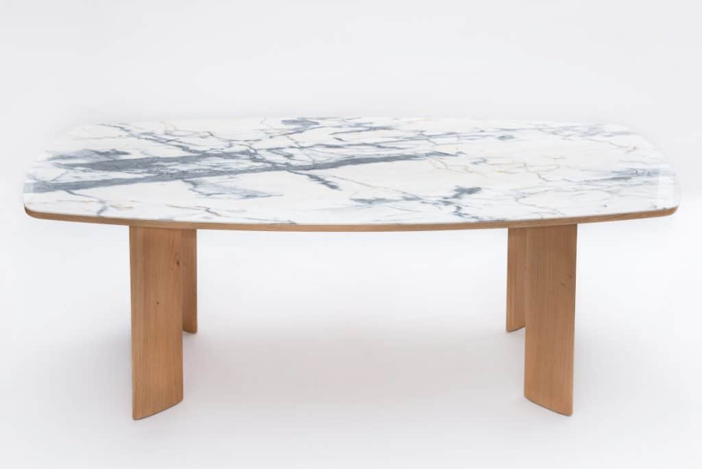 Table de salle à manger chêne et marbre