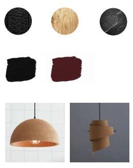 conception de meubles textures couleurs