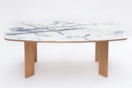 Table Serenity chêne et marbre
